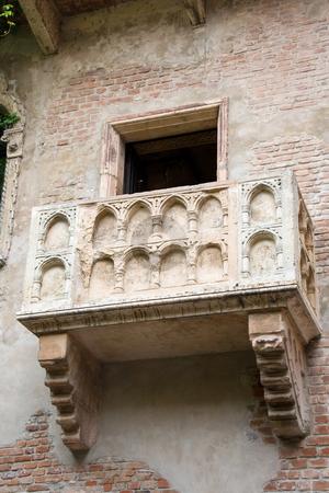 Juliet's balcony stock photo, The famous balcony of Juliet Capuleti's home in Verona by ANTONIO SCARPI