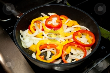 Fried Bell Pepper Rings stock photo, Fried bell peppers are easy to make and great to eat. by Mariusz Jurgielewicz