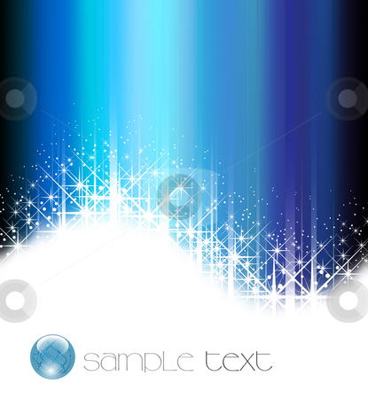 Blue abstract background - vector illustration stock vector clipart, Blue abstract background - vector illustration by Adrian Grosu