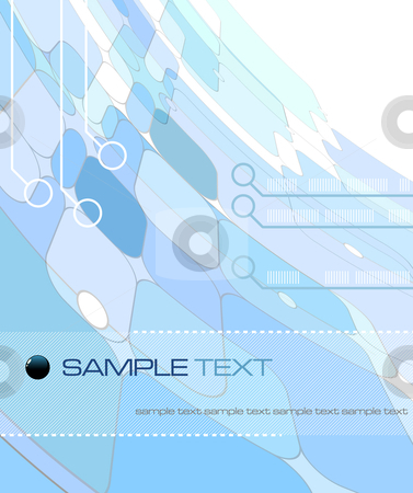 Blue Abstract Composition - vector illustration stock vector clipart, Blue Abstract Composition - vector illustration by Adrian Grosu