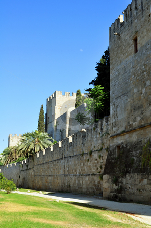 Rhodes old town. stock photo, Travel photography: Old town: ancient Rhodes fortress, island of Rhodes,   Greece by Fernando Barozza