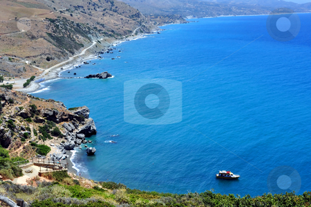 Fantastic view of Preveli Beach stock photo, Travel photography: Fantastic view of Preveli Beach in Southern Crete,   Greece by Fernando Barozza