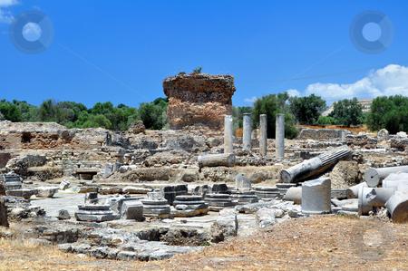 Praetorium. Archaeological site of Gortyn stock photo, Travel photography: Praetorium. Archaeological site of Gortyn, Crete by Fernando Barozza