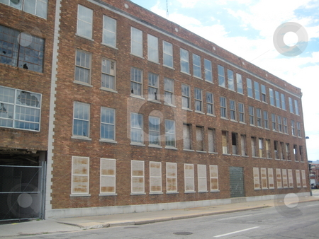 Abandoned Coleman Building, Wichita KS stock photo, Building that once housed the Coleman manufacturing plant in Wichita KS by Cathy Roew