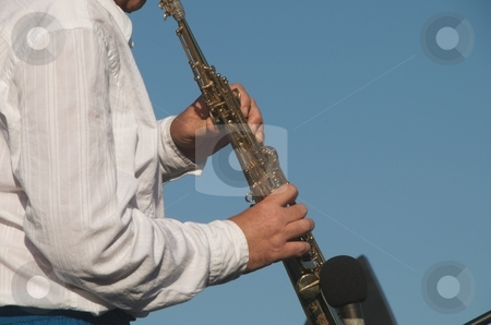 Clarinet Player stock photo, Man playing Clarinet by Timothy OLeary