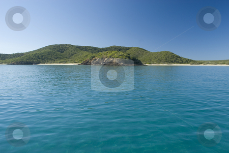 Great Keppel Island stock photo, A lone yacht moored off great keppel island, queensland, australia by Stephen Gibson