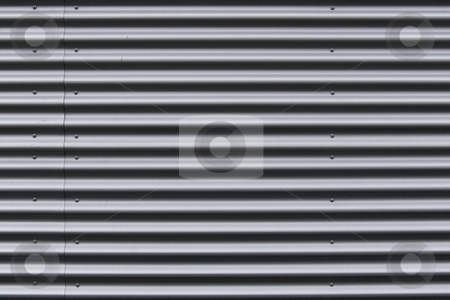 Aluminum wave wall plates stock photo, Aluminum wave wall plates, texture/background by Anders Peter