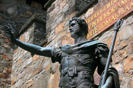 Saalburg Roman Fort stock photo, Saalburg Roman Fort, Bad Homburg, Germany;the ancient frontier between the Roman Empire and the Germanic tribal territories by Manuela Schueler