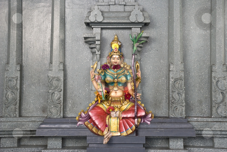Lakshmi stock photo, A colorful stone wall statue of the Hindu deity Lakshmi, Goddess of wealth, prosperity, light, wisdom, fortune, fertility, generosity and courage; and the embodiment of beauty, grace and charm. by Stefan Breton