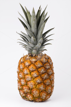 Ripe pineapple stock photo, Ripe pineapple isolated on white background by Valery Kraynov