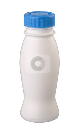 plastic bottle for yogurt stock photo, plastic bottle for yogurt, isolated on white  background. by Valery Kraynov