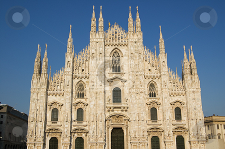 Cathedral in Milan, Duomo stock photo, The famous Duomo, cathedral church of Milan in Lombardy, Italy by Roberto Marinello