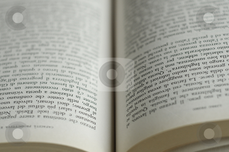 Book pages stock photo, A closeup of the pages of an open book by Alessandro Rizzolli
