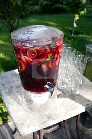 Sangria stock photo, Sangria is a wine punch typical of Spain, Portugal and Italy. by Mariusz Jurgielewicz