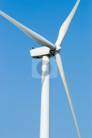 Windmill for electricity stock photo, Wind power, windmill for electricity by Lawren