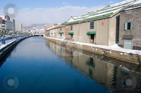 Canals in Otaru stock photo, Canals in Otaru,  Hokkaido, north of Honshu, Japan,  northeast Asia by Lawren