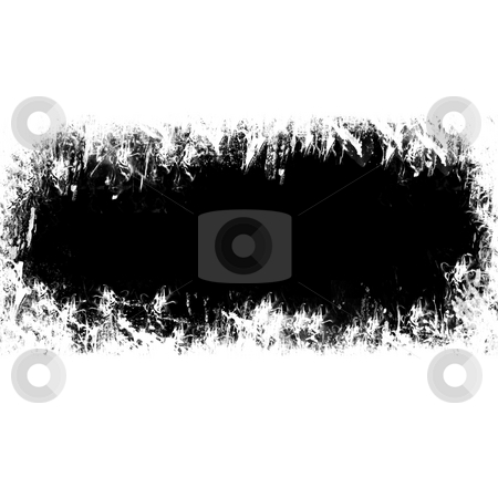 Grungy Border stock photo, A black grunge border with copyspace isolated over white. by Todd Arena