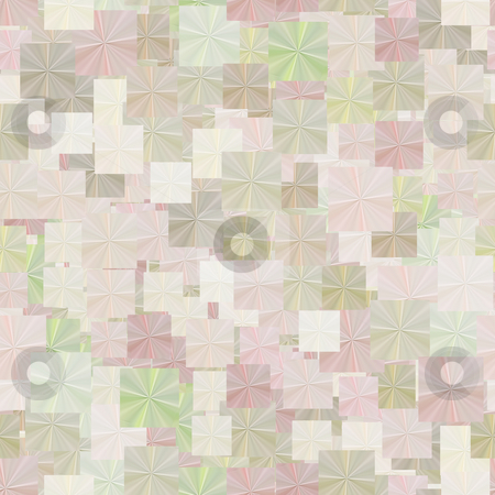 Pastel rags pattern stock photo, Texture of many folded square papers in soft colors by Wino Evertz