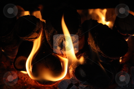 Campfire stock photo,  by Grigore Lipceanu