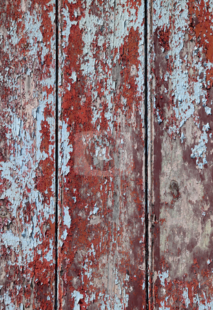 Rough peeling red and blue paint texture background. stock photo, Rough peeling red and blue paint texture background. by Stephen Rees
