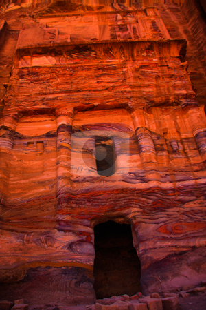 Lost City of Stone  Petra stock photo, Ancient gate in temple of Petra by Martin Reisacher