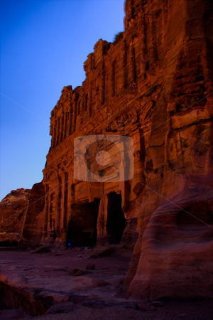 Lost City of Stone  Petra stock photo, Royal Tomb by Martin Reisacher