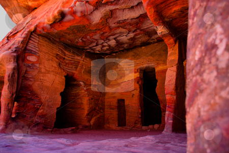 Lost City of Stone  Petra stock photo, Living Room by Martin Reisacher