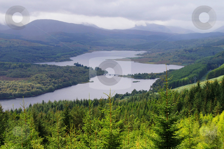 Scenic valley stock photo, Scenic valley in the scottish higlands at autumn by Karin Claus