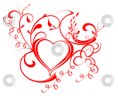Valentine Heart stock photo, Red Valentine heart by Laura Smith