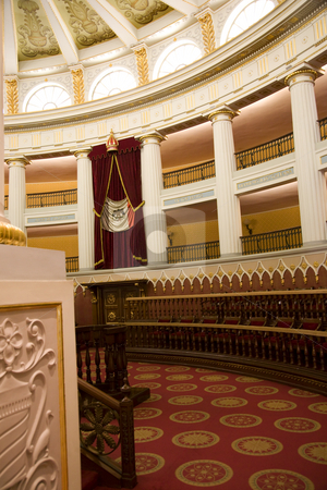 Chamber of Deputies President's Palace, Zocalo, Mexico City, Mex stock photo, Chamber of Deputies, the Old Colonial Legislature, President's Palace, Zocalo, Mexico City by William Perry