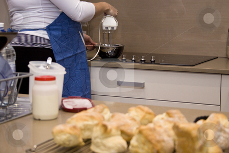 Baking Scones stock photo,  by Jandrie Lombard