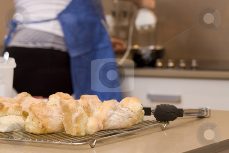 Baking Scones stock photo, Baking Scones by Jandrie Lombard