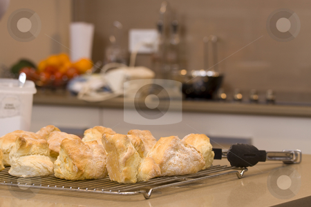 Scones stock photo, Freshly baked scones by Jandrie Lombard
