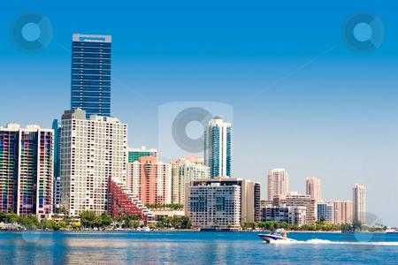 Miami Skyline stock photo, Miami skyline view from Key Biscayne by Jose Wilson Araujo