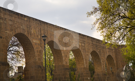 Aquaduct Morelia Mexico stock photo, Ancient Aquaduct Morelia Mexico  This aquaduct was built long ago to carry water from the mountains to the city of Morelia. by William Perry