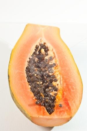 Papaya fruit stock photo, The papaya is the fruit of the plant Carica papaya, in the genus Carica. by Mariusz Jurgielewicz