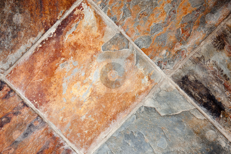 Decorative Stone Tiles Background stock photo, Richly Colored Decorative Stone Floor or Wall Tiles. by Andy Dean