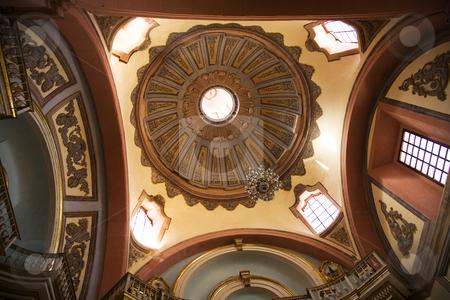 Santo Domingo Church Temple Dome Queretaro Mexico stock photo, Dome Santo Domingo Temple and Convent, Queretaro, Mexico, finished in 1697 by William Perry
