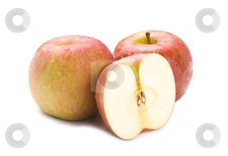 Isolated fresh apple fruit stock photo, Isolated fresh apple fruit on white background by Lawren