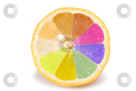 Isolated colorful orange fruit stock photo, Isolated colorful orange on white background by Lawren