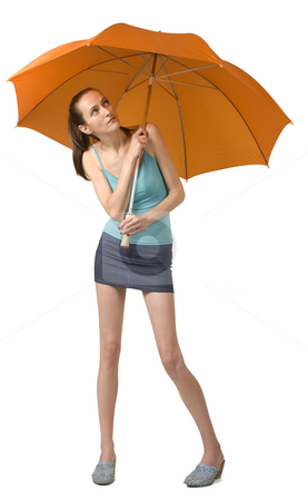 Rain stock photo, Beauty girl with umbrella by Desislava Draganova