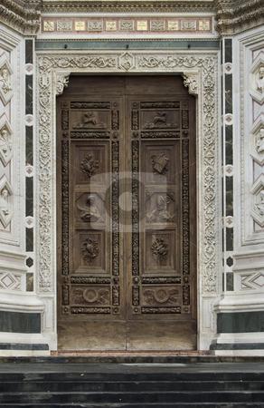 Door of the Church stock photo, Door of the Church Santa Croche, Florence by Desislava Draganova