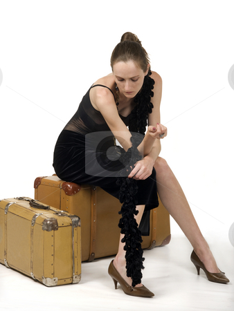 Retro Girl Travel stock photo, Retro girl travel by Desislava Draganova