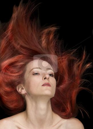 Fly Fire Hair stock photo, Fly fire hair fashion style by Desislava Draganova