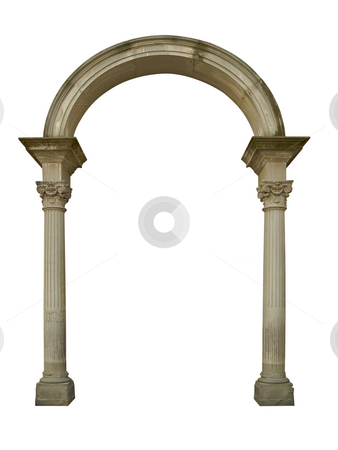 Arch stock photo, Ancient marble arch column by Desislava Draganova