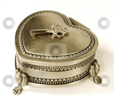 Golden Jewelry Box stock photo, Golden retro jewelry box by Desislava Draganova