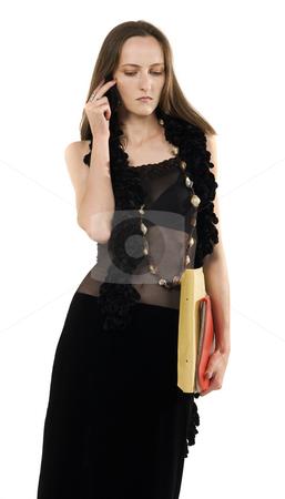 Retro Girl stock photo, Retro girl call phone by Desislava Draganova