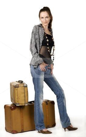 Traveling stock photo, Travel girl whit portmanteau by Desislava Draganova