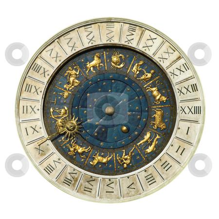 Venice Clock Tower stock photo, Ancient Venice clock toweri isolated on white by Desislava Draganova