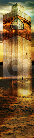 Tower In Italy stock photo, Italian imagination collage surrealism collection of surreal by Desislava Draganova